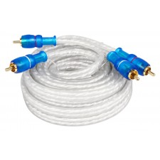 Rockville MRCA20 20 Foot Twisted Pair Marine RCA Cable 100% Copper, Split Pin